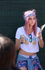 CARA DELEVINGNE at Osheaga Music and Arts Festival in Montreal 08/01/2015