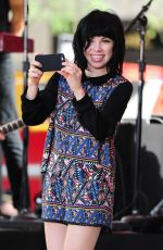 CARLY RAE JEPSEN Performs at The Today Show in New York 08/20/2015