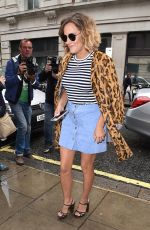 CAROLINE FLACK Arrives at BBC Radio 2 Studio in London 08/26/2015