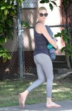 CHARLIZE THERON Heading to Yoga Class in Los Angeles 08/05/2015