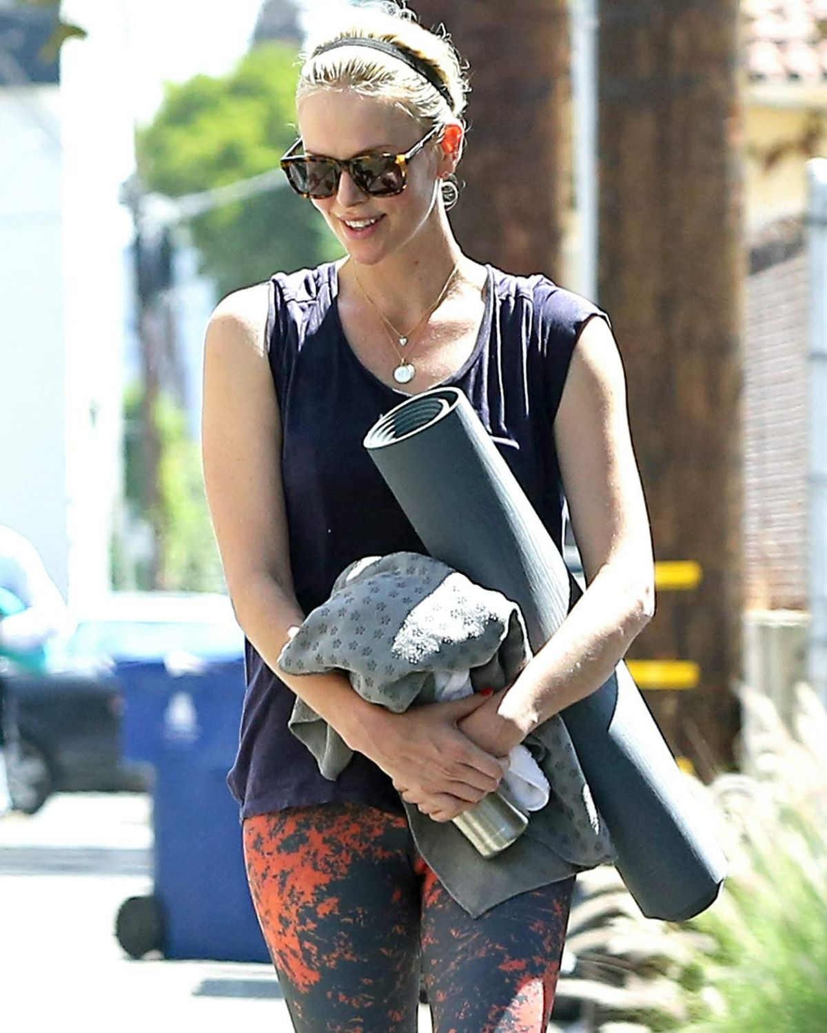 CHARLIZE THERON Heading to Yoga Class in Los Angeles08/23/2015