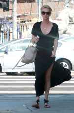 CHARLIZE THERON Out and About in Los Angeles 08/22/2015