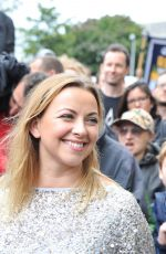 CHARLOTTE CHURCH at Protests Arctic Drilling in Front of Shell Centre in London 08/26/2015