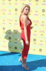 CHARLOTTE MCKINNEY at 2015 Teen Choice Awards in Los Angeles