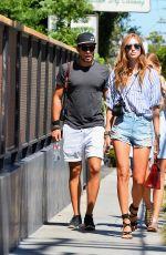 CHIARA FERRAGNI in Denim Shorts Out in West Hollywood 08/05/2015