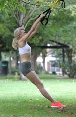 CHLOE JASMINE Working Out at a Park in London 08/25/2015