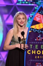 CHLOE MORETZ at 2015 Teen Choice Awards in Los Angeles