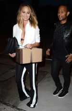 CHRISSY TEIGEN Arrives at Craig