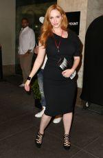 CHRISTINA HENDRICKS Night Out in New York 08/29/2015
