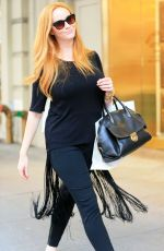 CHRISTINA HENDRICKS Out Shopping in New York 08/12/2015