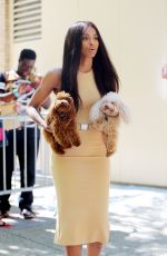 CIARA Carrying Her Dogs Out in New York 08/10/2015