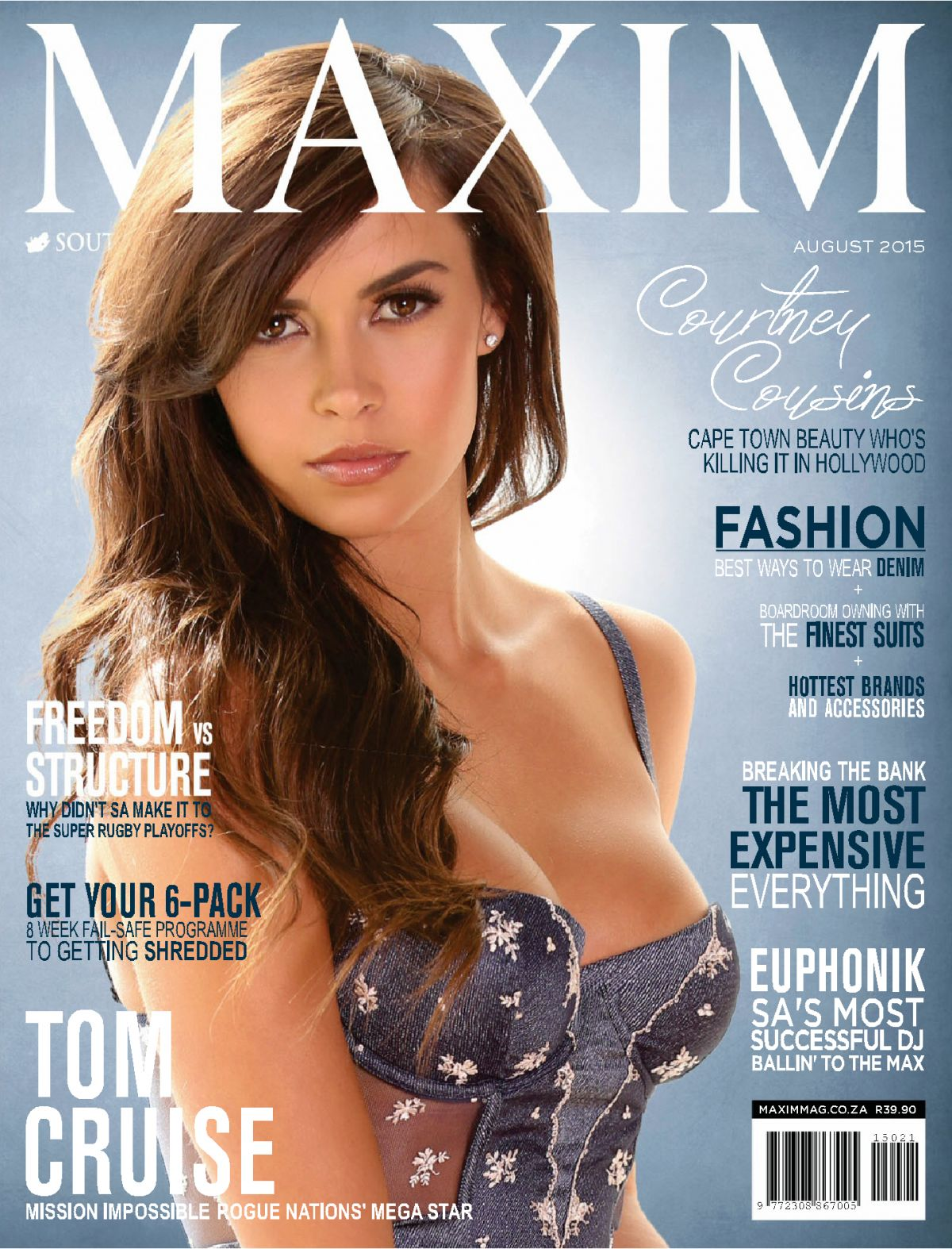 COURTNEY COUSINS in Maxim Magazine, South Africa August 2015 Issue