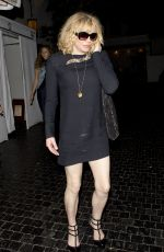 COURTNEY LOVE Leaves Chateau Marmont in West Hollywood 08/21/2015