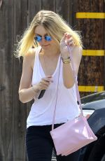 DAKOTA FANNING Out and About in Beverly Hills 08/20/2015