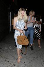 DAKOTA FANNING Out for Dinner in Los Angeles 08/17/2015