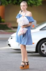 DAKOTA FANNING Out Shopping in Sherman Oaks 08/13/2015