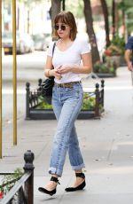 DAKOTA JOHNSON in Jeans Out in New York 08/30/2015