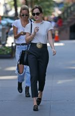 DAKOTA JOHNSON Out and About in New York 08/28/2015