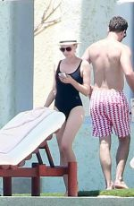 DIANE KRUGER in Swimsuit at a Pool in Cabo San Lucas 08/22/2015
