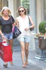 DIANE KRUGER Out Shopping in Hollywood 08/18/2015