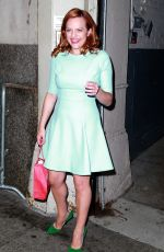 ELISABETH MOSS Out and About in New York 08/20/2015