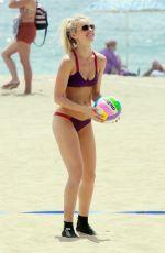 ELLE EVANS in Bikini at a Beach in Malibu 07/31/2015