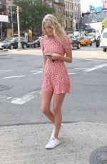 ELSA HOSK Out and About in New York 08/04/2015