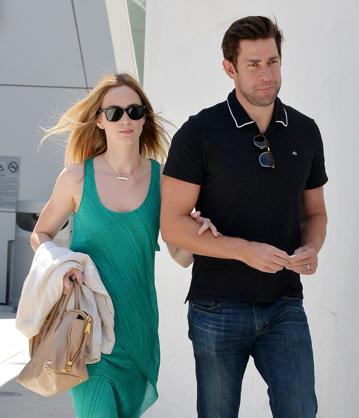 EMILY BLUNT and John Krasinski Out and About in Los Angeles 08/07/2015