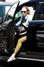 EMILY BLUNT Arrives at a Hair Salon in Los Angeles 08/24/2015
