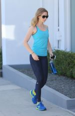 EMILY BLUNT in Tights Arrives at a Gym in West Hollywood 08/24/2015