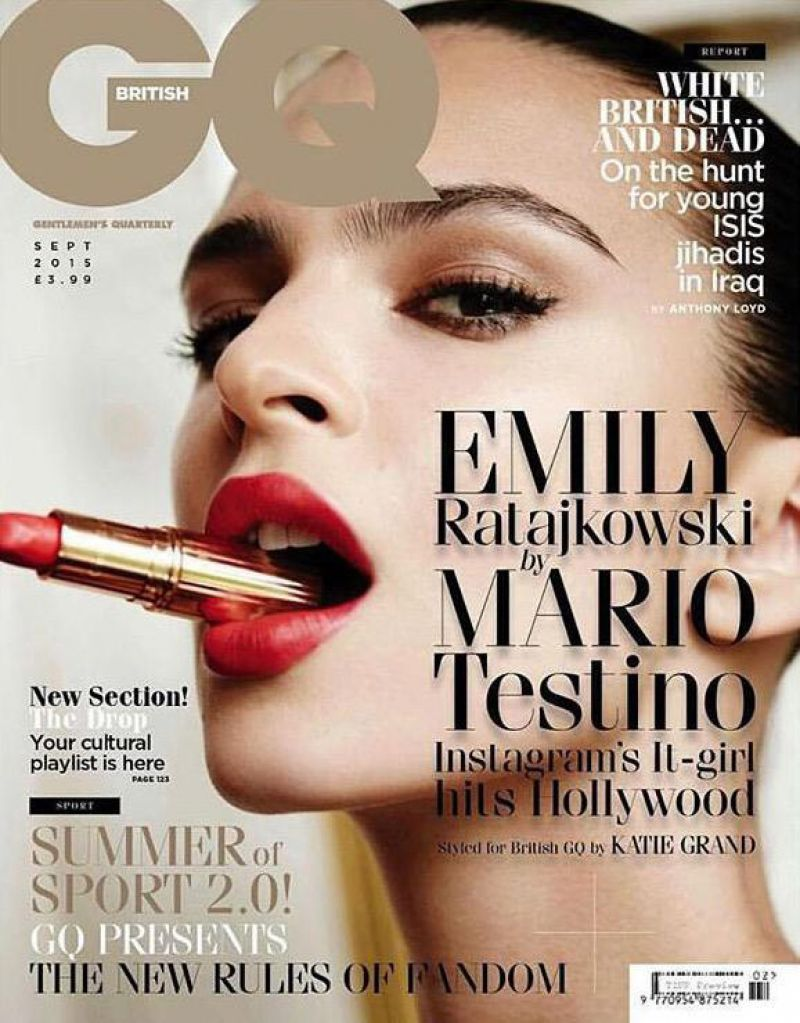 2015 Gq Men Of The Year Party In Los Angeles: EMILY RATAJKOWSKI In GQ Magazine, UK September 2015 Issue