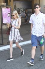 EMMA ROBERTS Out Shopping in Los Angeles 08/22/2015