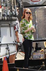 EMMA STONE at La La Land Set in Los Angeles 08/27/2015