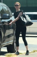 EMMA STONE Leaves a Gym in Los Angeles 08/28/2015