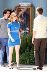 EMMA STONE on the Set of La La Land in Los Angeles 08/19/2015