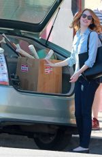 EMMA STONE on the Set of La La Land in Los Angeles 08/28/2015