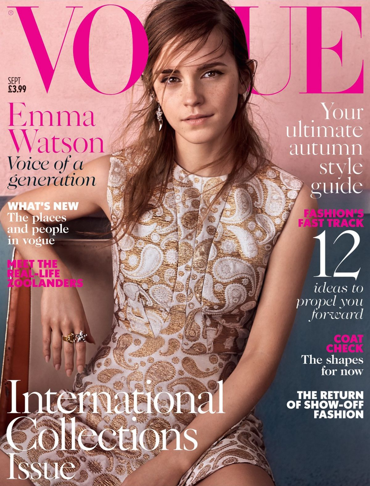 EMMA WATEON on the Cover of Vogue Magazine, UK September 2015 Issue