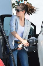 EMMY ROSSUM at a Gas Station in West Hollywood 07/31/2015