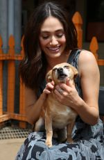 EMMY ROSSUM at Microsoft and Best Friends Animal Society Upgrade Your World Event in Los Angeles