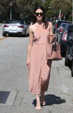 EMMY ROSSUM Out and About in Beverly Hills 08/28/2015