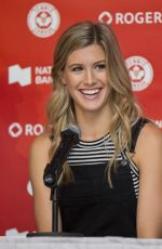 EUGENIE BOUCHARD at 2015 Rogers Cup Draw Ceremony in Toronto
