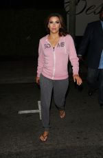 EVA LONGORIA Leaves Beso Restaurant in Hollywood 08/05/2015