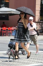 FAMKE JANSSEN Out and About in New York 08/24/2015
