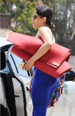 FREIDA PINTO Heading to Yoga Class in Beverly Hills 07/31/2015
