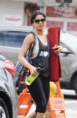 FREIDA PINTO Leaves a Yoga Class in Beverly Hills 08/03/2015