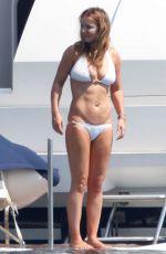 GERI HALLIWELL in Bikini at a Boat in St. Tropez 08/10/2015