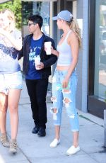 GIGI HADID in Ripped Jeans and Tank Top Out in West Hollywood 08/20/2015