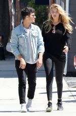 GIGI HADID in Tights Out and About in Los Angeles 08/10/2015