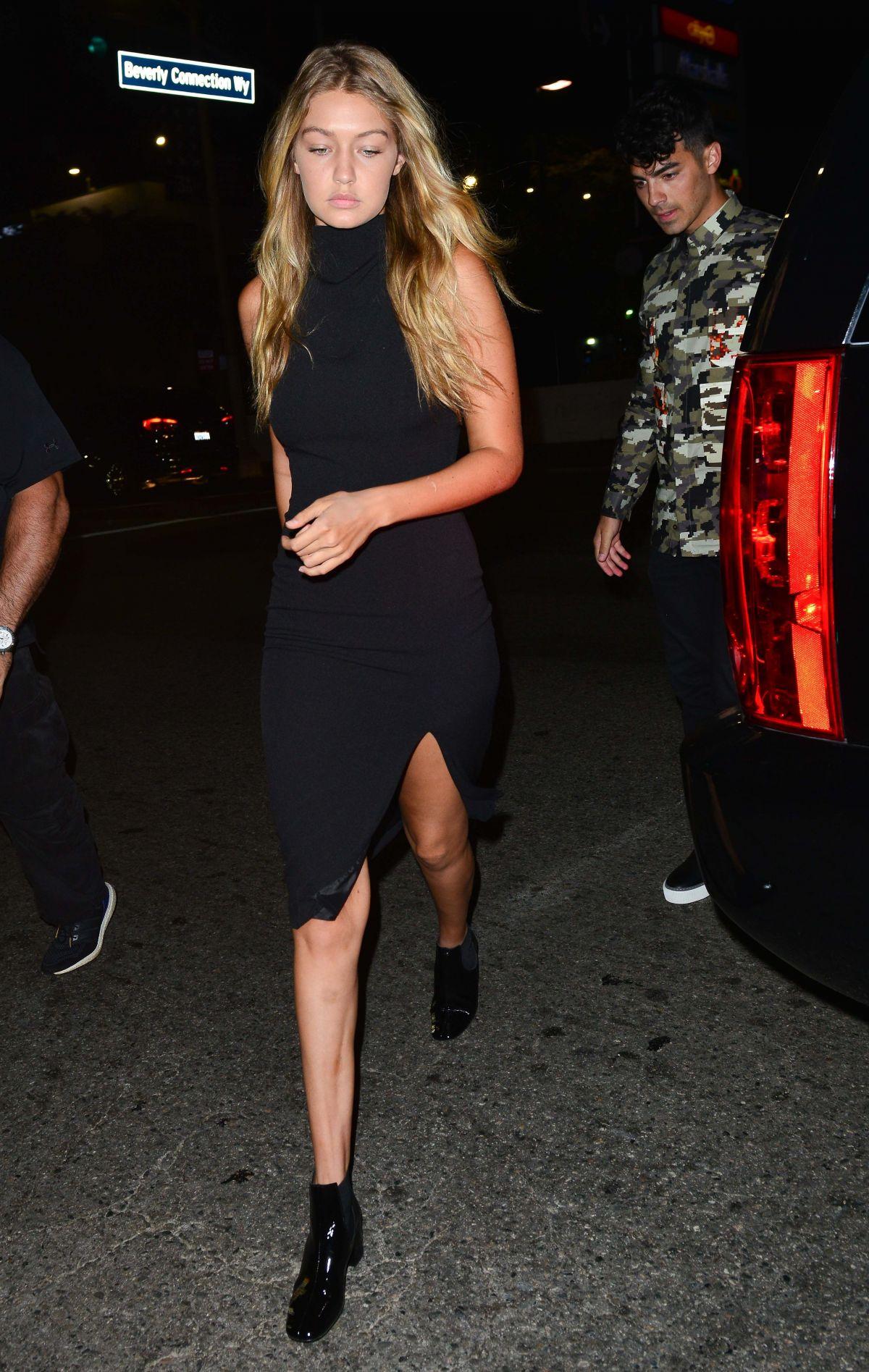 GIGI HADID Night Out in Hollywood 08/29/2015
