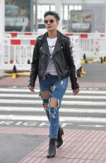HALSEY Arrives at Heathrow Airport in London 08/04/2015